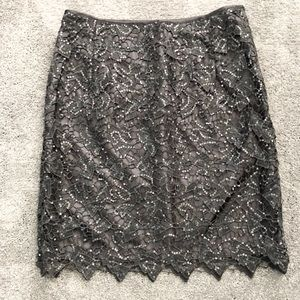 H&M Charcoal Sequin Skirt